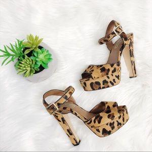 Steve Madden Dynemite Leopard Print Heels 8.5
